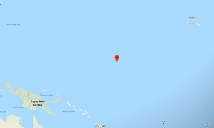 The Marshall Islands in the Pacific Ocean (Google Maps)
