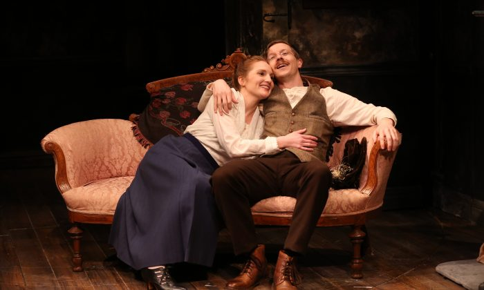 """Clare O'Malley and Adam Petherbridge as they appear in the Irish Repertory Theatre's production of """"The Plough and the Stars."""" (Carol Rosegg)"""