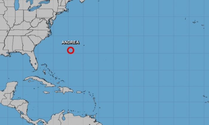 """Subtropical Depression Andrea weakened from a subtropical storm to a subtropical depression and is """"expected to dissipate soon."""" (NHC)"""