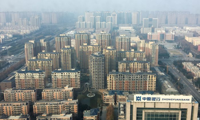 An overview shows apartment buildings in Xuchang, Henan Province, China on Dec. 14, 2018. (Yawen Chen/Reuters)