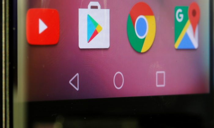 Google applications are seen on a Huawei smartphone in this photo illustration taken on May 20, 2019. (Dado Ruvic/Reuters)