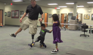 Video: Charlie's 1st Steps--With a Little Help From Friends