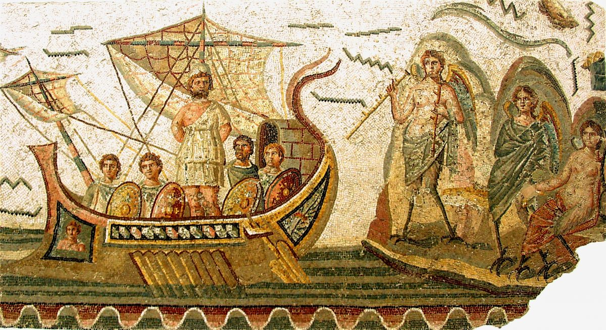 mosaic of Odysseus and Sirens
