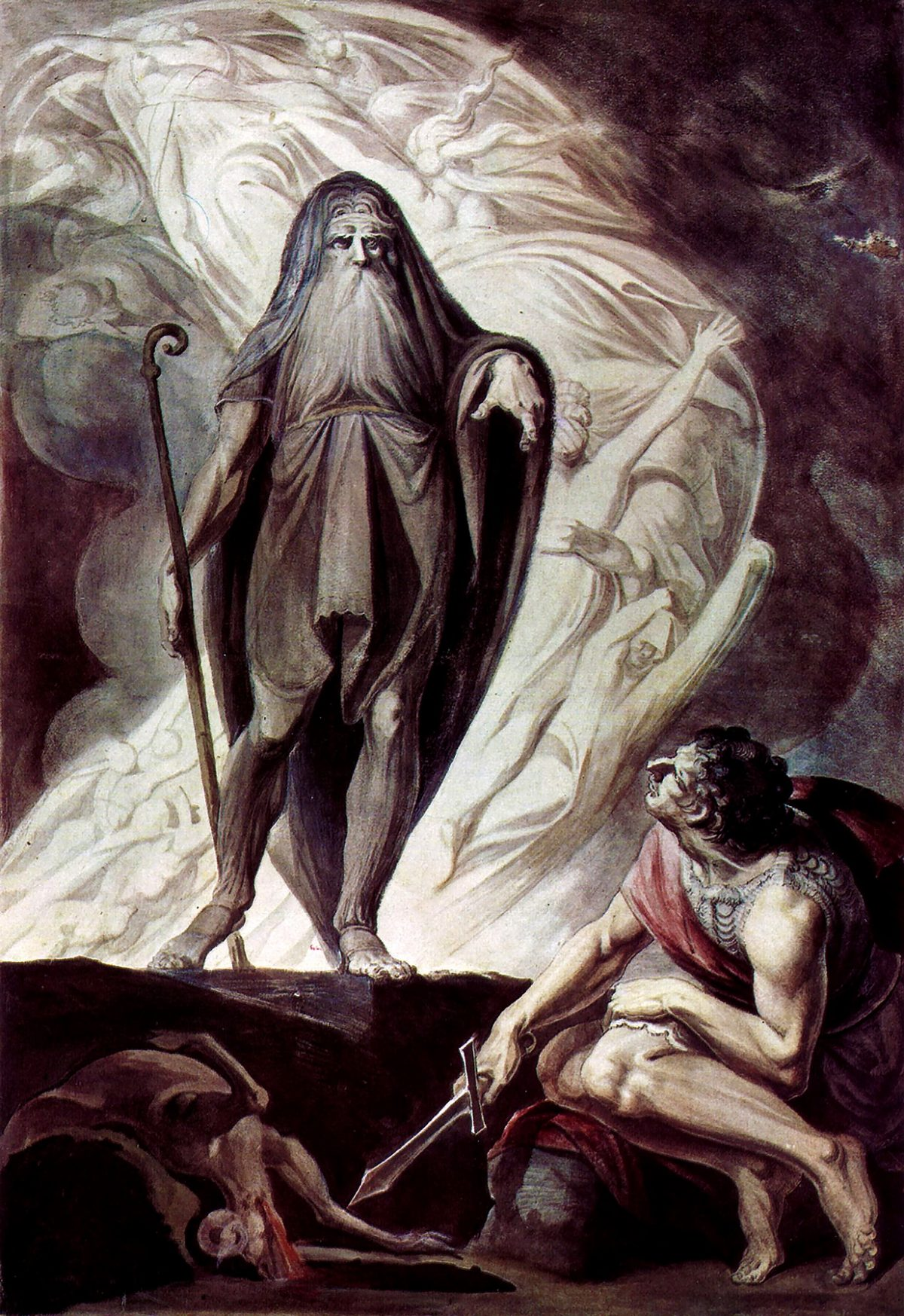 ghost of Teresias meeting odysseus