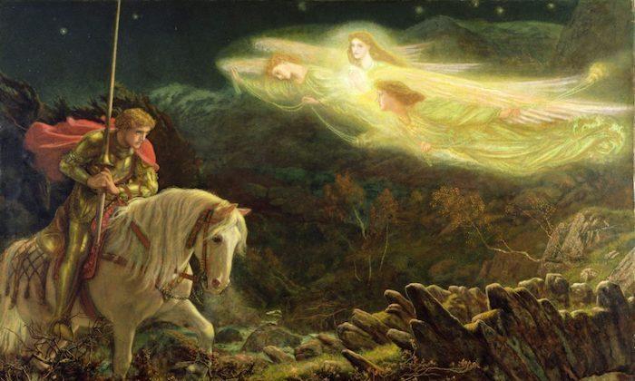 """Sir Galahad, the Quest for the Holy Grail,"" 1870, by Arthur Hughes. (Public Domain)"