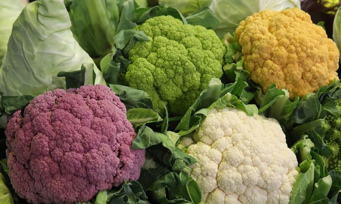 Different kinds of cauliflower are displayed at 2018 International Green Week in Berlin, Germany, on Jan. 19, 2018. (Sean Gallup/Getty Images)