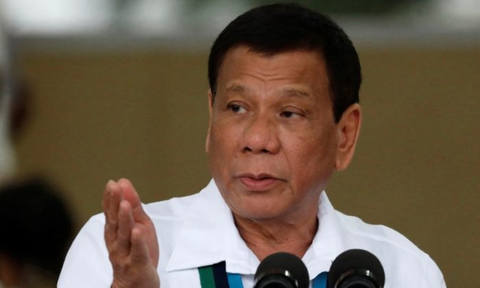 Filipino President Rodrigo Duterte in Quezon City, Philippines on Oct. 26, 2017. Canada announced on May 22, 2019, that it has hired a firm to ship back containers of trash left to rot in Manila ports, the announcement coming a month after Duterte threatened to ship them back himself. (Reuters/Dondi Tawatao)
