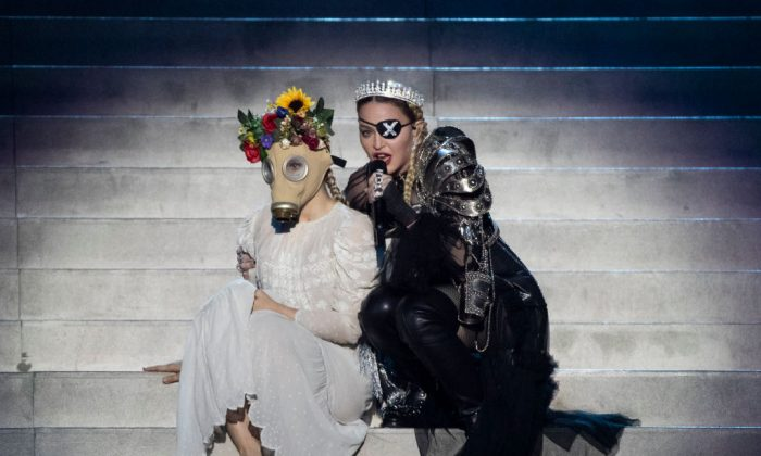Madonna performs on stage after the 64th annual Eurovision Song Contest held at Tel Aviv Fairgrounds on May 18, 2019, in Tel Aviv, Israel. (Michael Campanella/Getty Images)