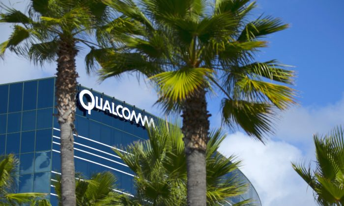 One of many Qualcomm buildings is shown in San Diego, Calif., on Nov. 3, 2015. (Mike Blake/Reuters)