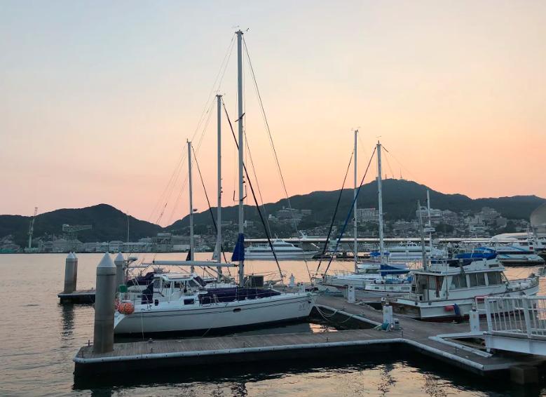 nagasaki boats sunset