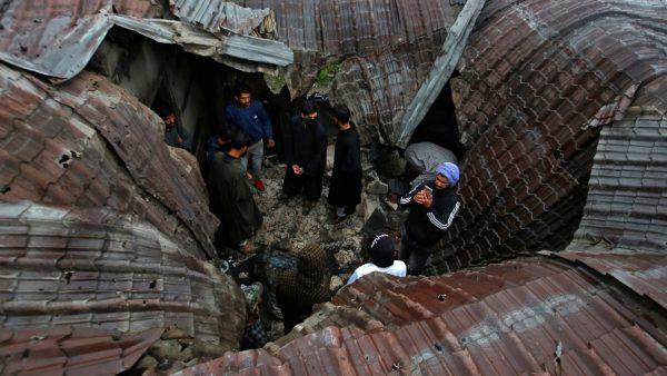 Damaged roof Zakir Rashid Bhat