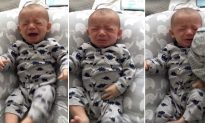 Stunning Video Shows What Happens When Dad Gives Wife's Dirty Shirt to Crying Baby