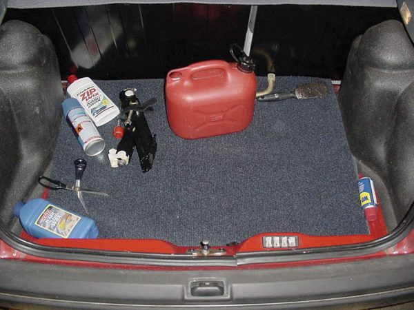 evidence in the trunk of Huntley's car
