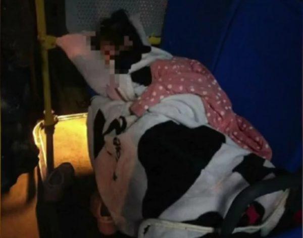 daughter sleep bus