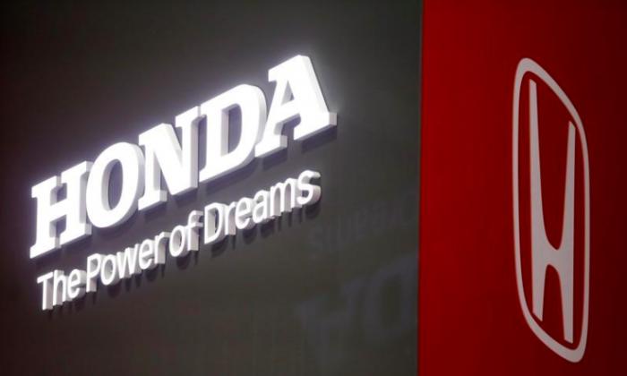 The Honda logo is displayed at the 89th Geneva International Motor Show in Geneva, Switzerland March 5, 2019. (Pierre Albouy/Reuters)