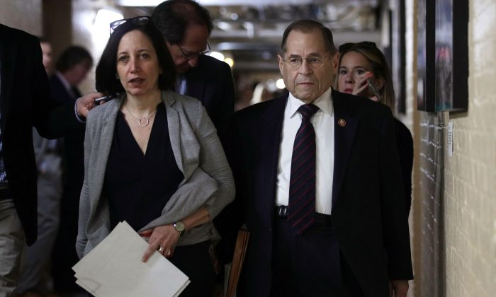 Committee Chairman of U.S. House Judiciary Committee Rep. Jerry Nadler (D-N.Y.) leaves a House Democrats meeting in Washington on May 22, 2019.  Alex Wong/Getty Images