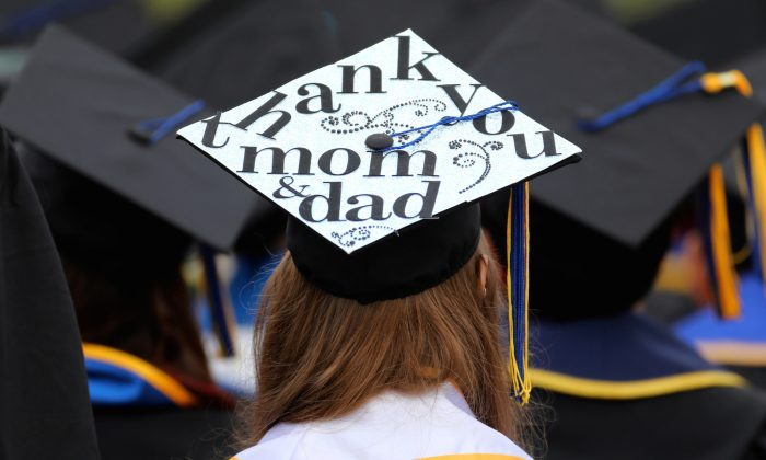 A graduating student at UC San Diego on June 17, 2017. (REUTERS/Mike Blake/File Photo)