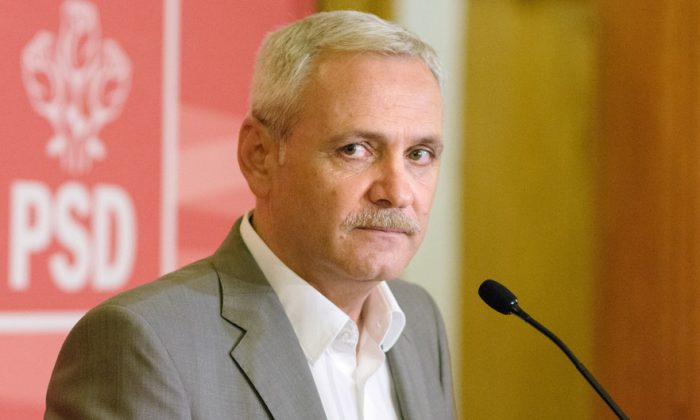Liviu Dragnea, the leader of The Social Democratic Party, in Bucharest, Romania, on Sept. 21, 2018. (Florin Chirila/The Epoch Times)