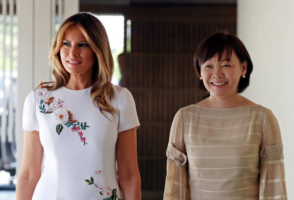 First Lady Melania Trump and Akie Abe