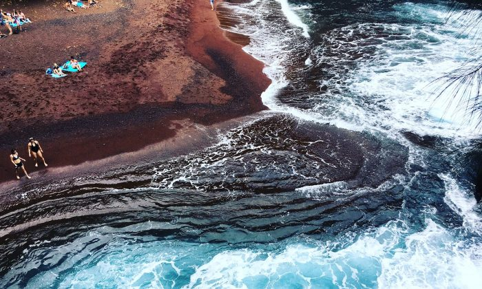 A red sand beach in Hawaii. (Max Pixel)