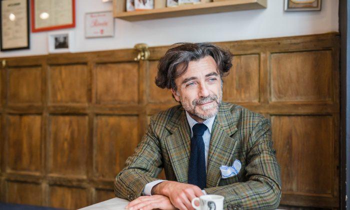 Tommaso Capozzoli, partner and brand ambassador at Sartoria Vestrucci, wears a ready-to-wear tweed sport coat ($2,700). (Courtesy of Sartoria Vestrucci)
