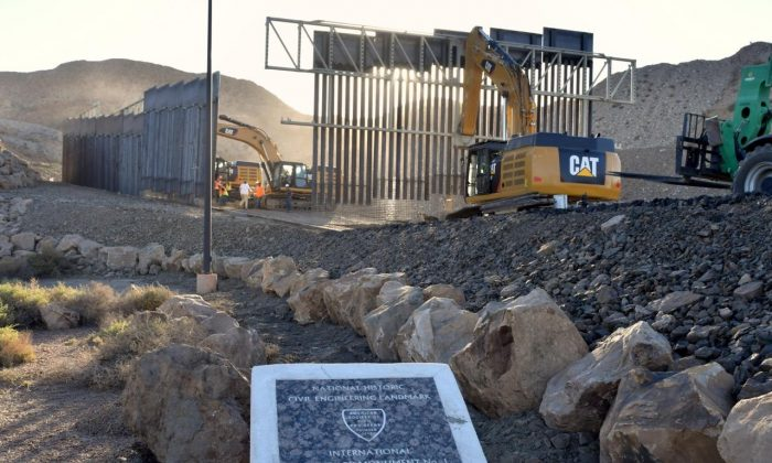 New border wall being constructed by We Build the Wall in the El Paso metropolitan area on May 24, 2019. (Courtesy of We Build the Wall, Inc.)