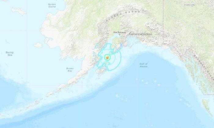 The quake hit near Homer, Alaska (USGS)