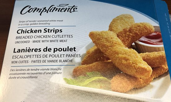 Compliments Frozen Chicken Strips Recalled, Linked to Current Salmonella Outbreak