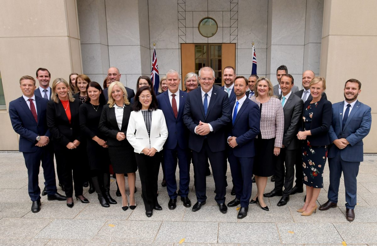 Scott Morrison Holds Coalition Joint Party Room Meeting