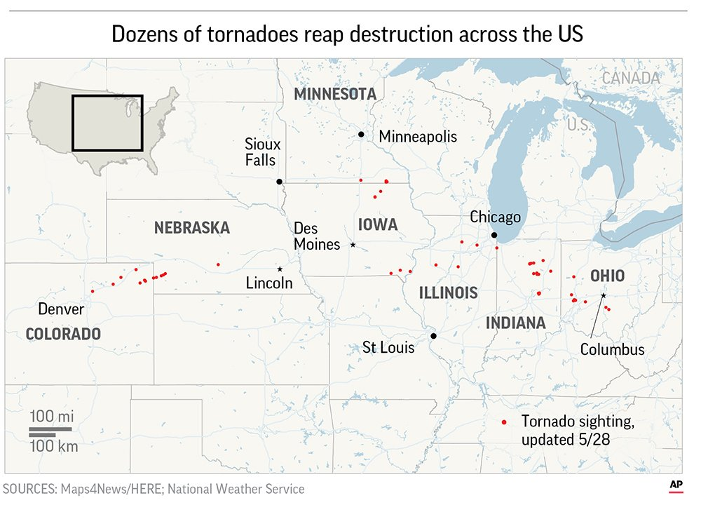 national weather service map tornado