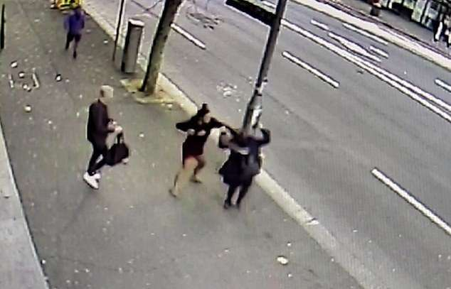 Footage of the brutal attack was captured on surveillance cameras in Sydney, Australia, on May 28, 2019. (NSW Police)