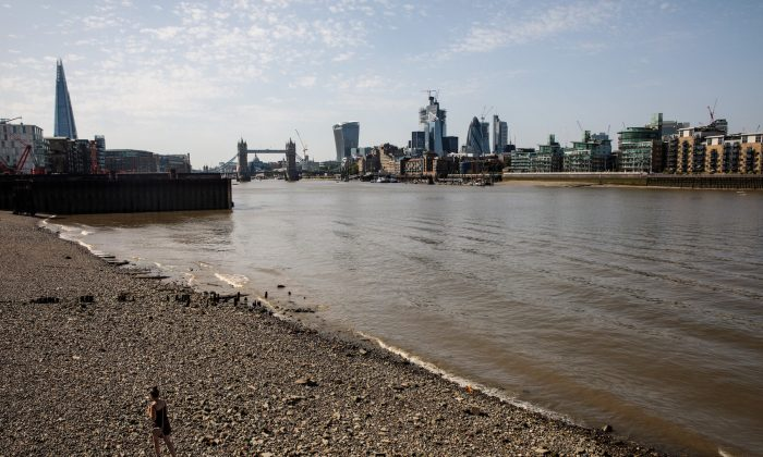 The Thames River in London, on Aug. 6, 2018.  (Jack Taylor/Getty Images)