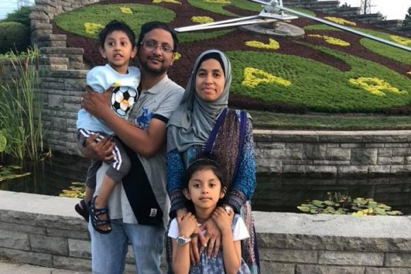 Four-year-old Radiul Chowdhury was walking Sunday with one of his parents in Toronto's east end when he ended up on the roadway and was struck by a motorcycle. (GoFundMe)