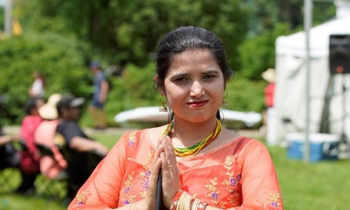 Folk-dance teacher Ms. Khanal from Bhutan.  (Lei Chen)