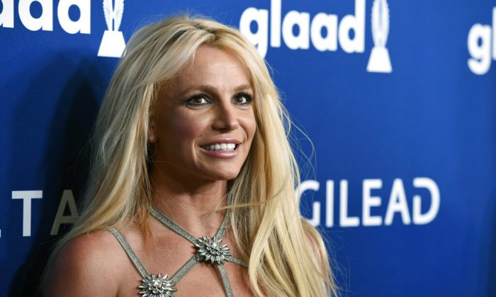 Britney Spears at the 29th annual GLAAD Media Awards in Beverly Hills, Calif. A Los Angeles, on April 12, 2018. (Christ Pizzello/AP Photo)