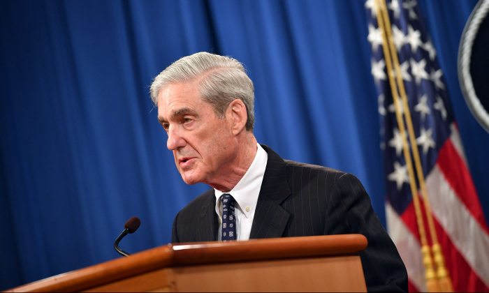 Special Counsel Robert Mueller speaks on the investigation into Russian interference in the 2016 Presidential election, at the US Justice Department in Washington, DC, on May 29, 2019. (Mandel Ngan/AFP/Getty Images)