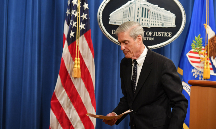Special Counsel Robert Mueller at the US Justice Department in Washington, DC, on May 29, 2019. (Photo by MANDEL NGAN / AFP)