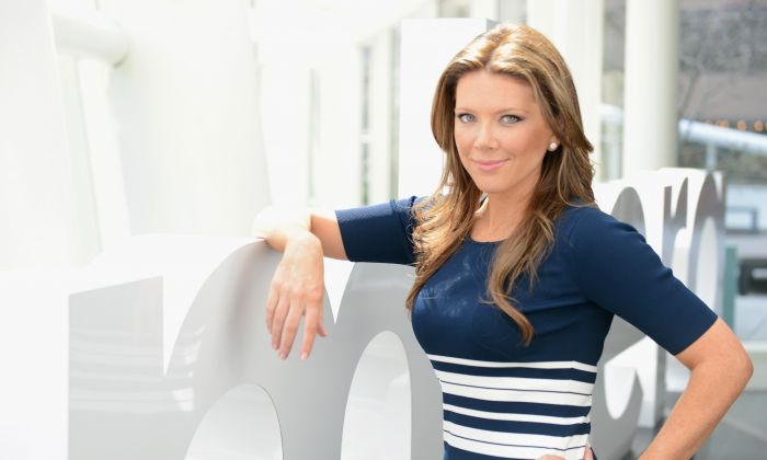 Trish Regan poses during the Resident Magazine May 2013 Cover Shoot at the Bloomberg Foundation Building on April 1, 2013 in New York City. (Andrew H. Walker/Getty Images)