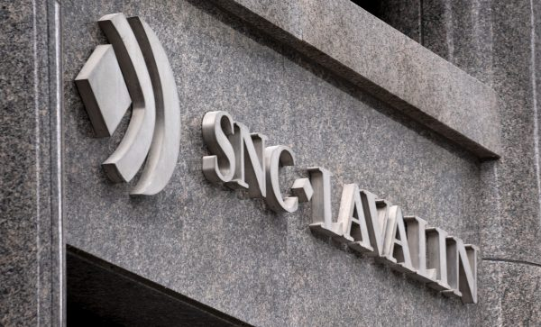 The SNC-Lavalin headquarters is seen in Montreal on Tuesday, Feb. 12, 2019. A court of Quebec judge is expected to rule today on whether SNC-Lavalin Group Inc. will proceed to trial on charges of fraud and corruption. (Paul Chiasson/The Canadian Press)
