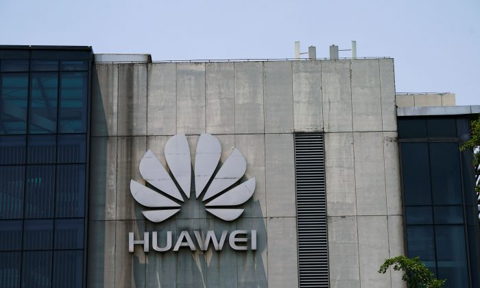 A Huawei company logo is seen at Huawei's Shanghai Research Center in Shanghai, China on May 22, 2019. (Aly Song/Reuters)