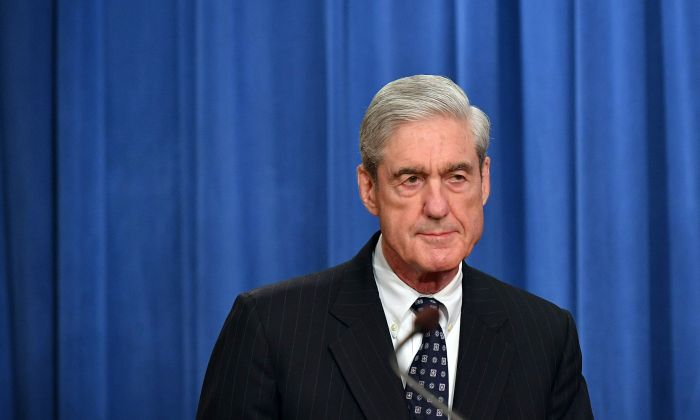 Special counsel Robert Mueller arrives to speak on the investigation into Russian interference in the 2016 presidential election, at the U.S. Justice Department in Washington on May 29, 2019. (Mandel Ngan / AFP/Getty Images)