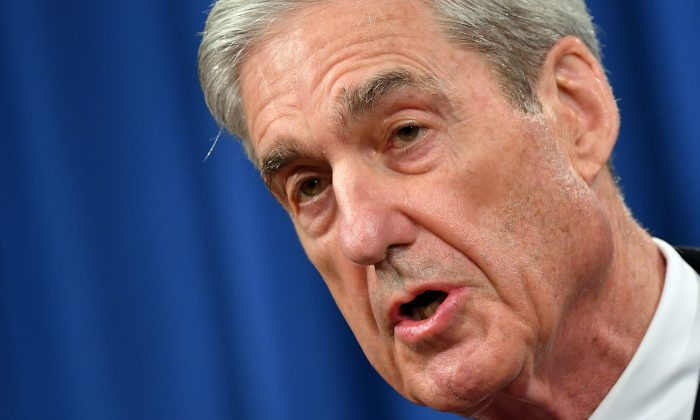 Special Counsel Robert Mueller speaks on the investigation into Russian interference in the 2016 Presidential election, at the US Justice Department in Washington, DC, on May 29, 2019.  MANDEL NGAN/AFP/Getty Images