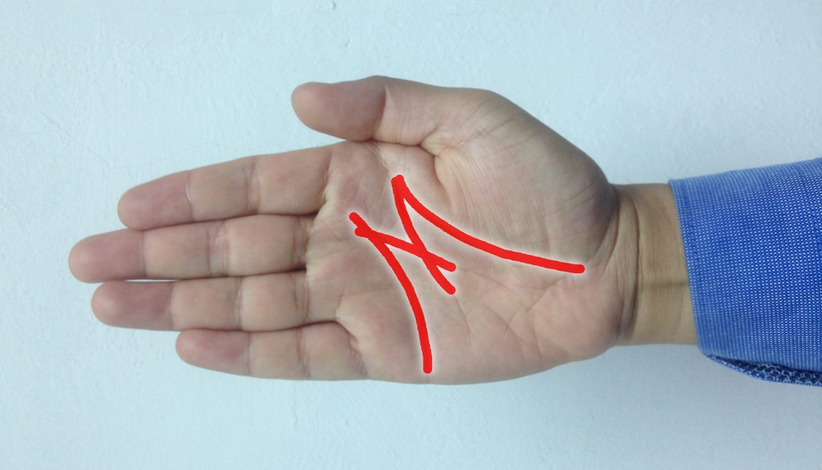 If you see the letter 'M' on your palm, it means there's something special about you