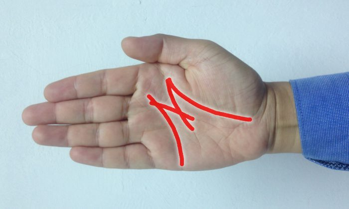 If You See the Letter 'M' on Your Palm, It Means There's