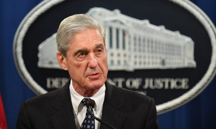 Special counsel Robert Mueller speaks on the investigation into Russian interference in the 2016 Presidential election, at the Department of Justice in Washington on May 29, 2019. (Mandel Ngan/AFP/Getty Images)