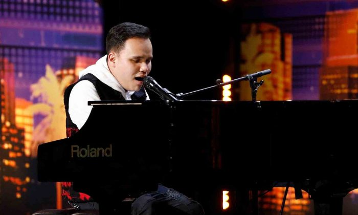 "Pianist and singer Kodi Lee was met with a standing ovation and the golden buzzer for his performance on Season 14 of ""America's Got Talent."" (NBC via CNN)"