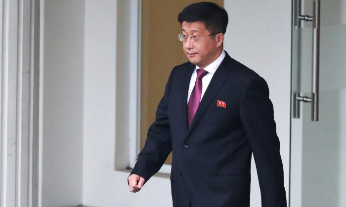 Kim Hyok Chol, North Korea's special representative for U.S. affairs, leaves the Government Guesthouse in Hanoi, Vietnam, Feb. 23, 2019. (Reuters/Athit Perawongmetha)