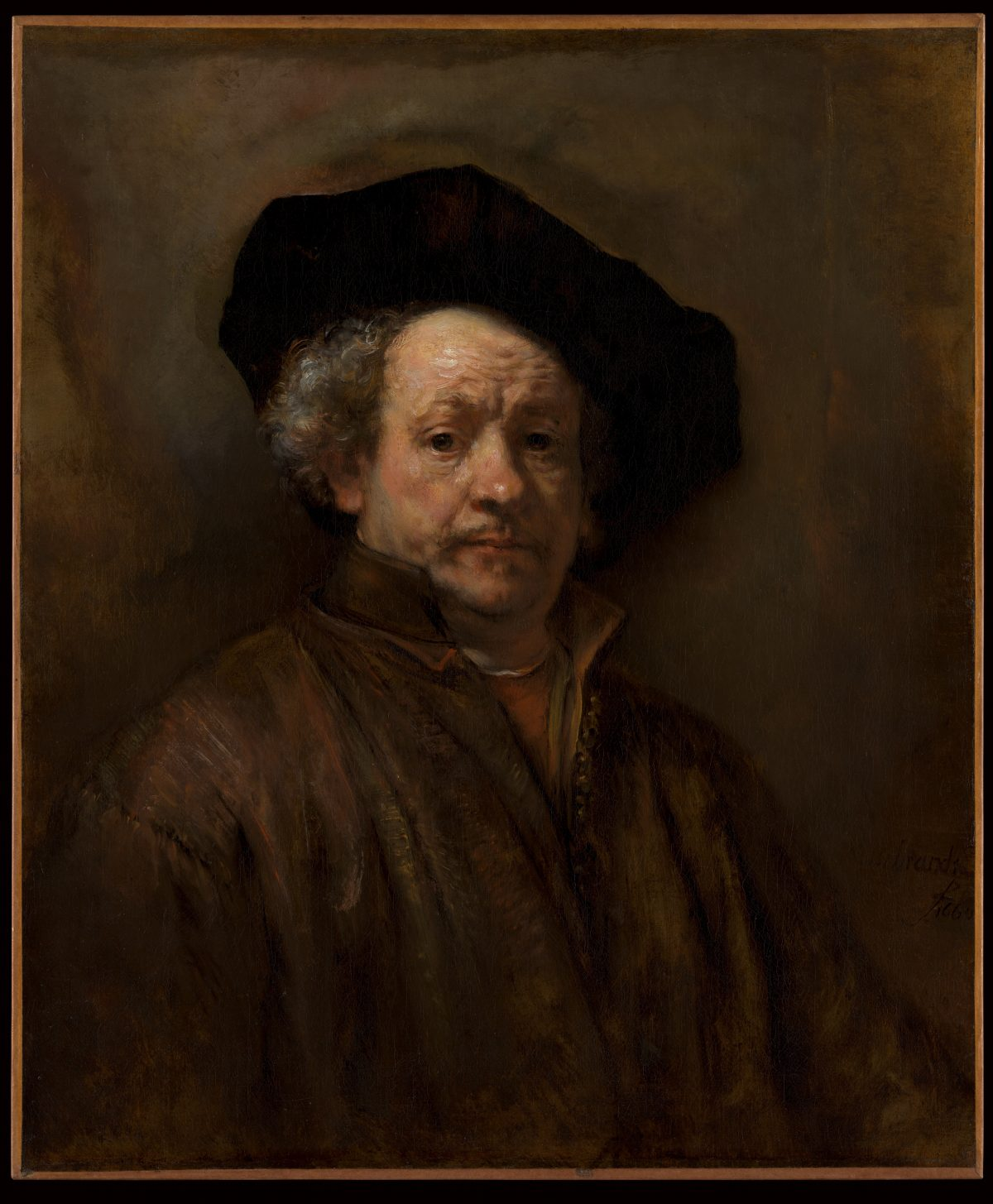 rembrandt's self portrait 1660