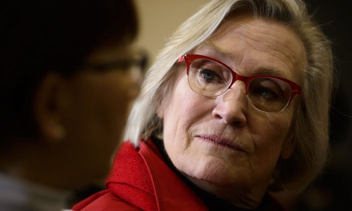 Indigenous and Northern Affairs Minister Carolyn Bennett takes part in an event in Iqaluit, Nunavut March 8, 2019. Issues with policing and the inequalities in the legal system are set to figure prominently in the much-anticipated report on missing and murdered Indigenous women to be released June 1, 2019. (The Canadian Press/Sean Kilpatrick)