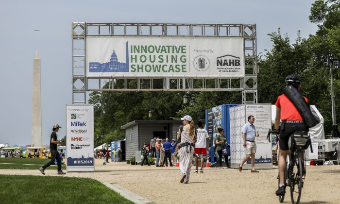 The Innovative Housing Showcase on the National Mall in Washington on June 1, 2019. (Samira Bouaou/The Epoch Times)